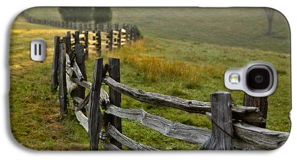 Paint Photograph Galaxy S4 Cases - Sunrise Meadow - Blue Ridge Parkway I Galaxy S4 Case by Dan Carmichael