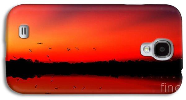 Scotland Galaxy S4 Cases - Sunrise On A Loch Galaxy S4 Case by John Farnan