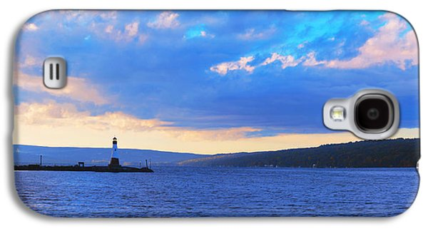 Ithaca Galaxy S4 Cases - Sunrise On Cayuga Lake Ithaca New York Panoramic Photography Galaxy S4 Case by Paul Ge
