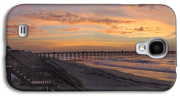 Pier Digital Galaxy S4 Cases - Sunrise on Topsail Island Panoramic Galaxy S4 Case by Mike McGlothlen