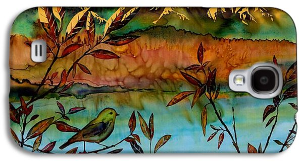Landscapes Tapestries - Textiles Galaxy S4 Cases - Sunrise on Willows Galaxy S4 Case by Carolyn Doe