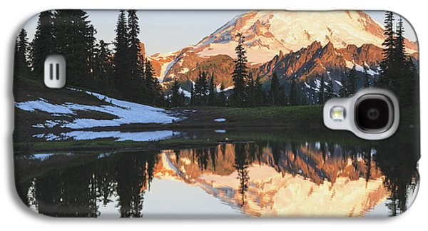 Reflections Of Sky In Water Galaxy S4 Cases - Sunrise Over A Small Reflecting Pond Galaxy S4 Case by Stuart Westmorland