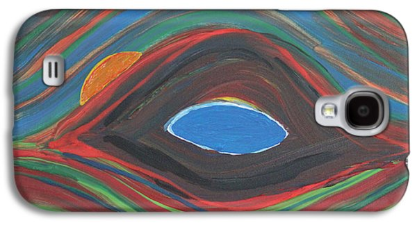 Curvilinear Paintings Galaxy S4 Cases - Sunrise Over Blue Ridge Mountain Lake Galaxy S4 Case by Robert Yaeger