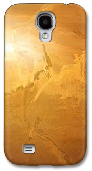 Abstract Digital Paintings Galaxy S4 Cases - Sunrise Over the Dunes Galaxy S4 Case by Kume Bryant
