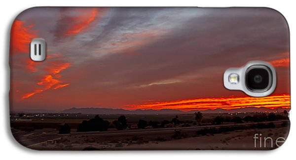 Haybale Galaxy S4 Cases - Sunrise Over Yuma Galaxy S4 Case by Robert Bales