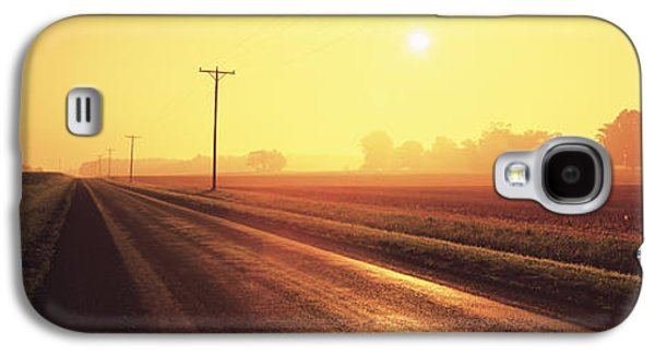 Telephone Poles Galaxy S4 Cases - Sunrise Road Maryland Usa Galaxy S4 Case by Panoramic Images