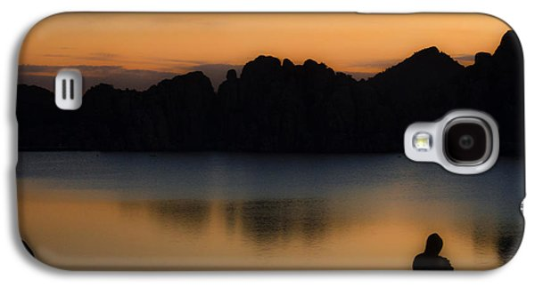Watson Lake Galaxy S4 Cases - Sunrise Solitude Galaxy S4 Case by Dave Dilli