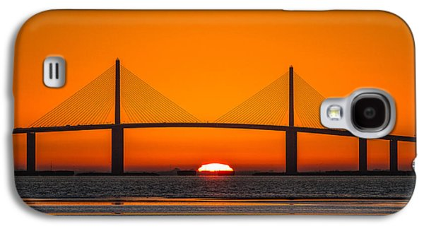 Sunshine Skyway Bridge Galaxy S4 Cases - Sunrise through the Skyway Bridge Galaxy S4 Case by Jeff Donald