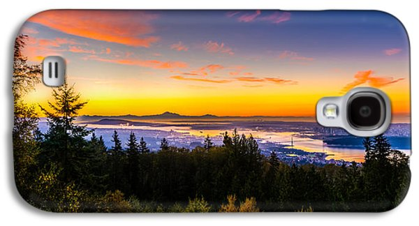 Vancouver Photographs Galaxy S4 Cases - Sunrise Vancouver Galaxy S4 Case by Ian Stotesbury