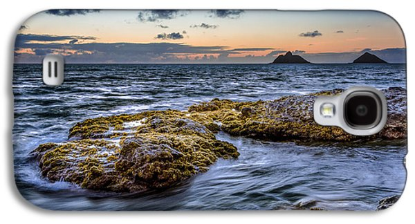 Top Seller Galaxy S4 Cases - Sunrise with the Mokulua also know as Mokes Island Galaxy S4 Case by Tin Lung Chao