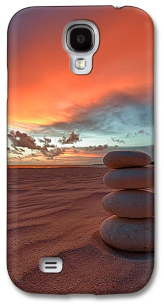 Nature Photographs Galaxy S4 Cases - Sunrise Zen Galaxy S4 Case by Sebastian Musial