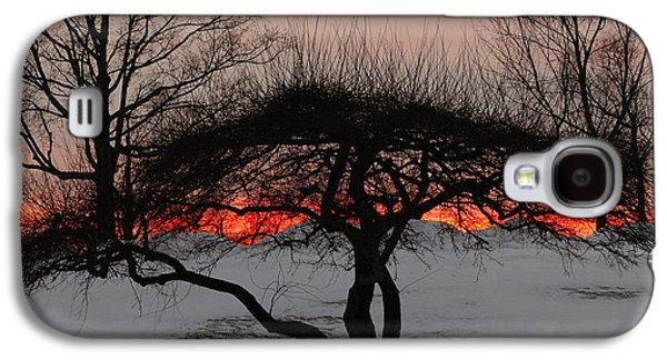 Snowy Night Night Galaxy S4 Cases - Sunroof Galaxy S4 Case by Luke Moore