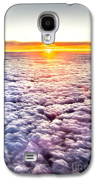 The Nature Center Galaxy S4 Cases - Sunset Above The Clouds Galaxy S4 Case by Az Jackson