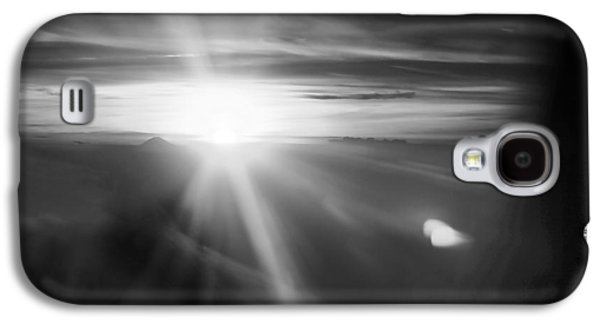 Miraculous Drawings Galaxy S4 Cases - Sunset above the clouds in BW Black White Galaxy S4 Case by PhotoArtist PhotoArtist