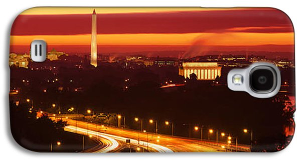 Sunset, Aerial, Washington Dc, District Galaxy S4 Case by Panoramic Images