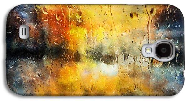 Sunset Abstract Mixed Media Galaxy S4 Cases - Sunset After The Storm Abstract Galaxy S4 Case by Georgiana Romanovna
