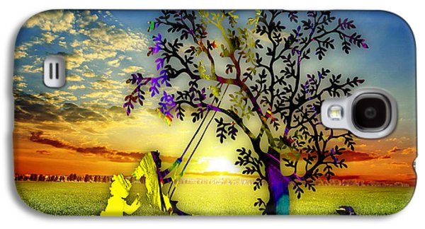 Sunset And Play Galaxy S4 Case by Marvin Blaine