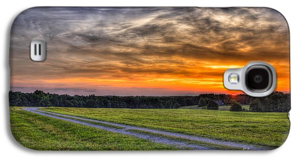 Pastureland Galaxy S4 Cases - Sunset and The Road Home Galaxy S4 Case by Reid Callaway