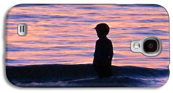 Little Boy Galaxy S4 Cases - Sunset Art - Contemplation Galaxy S4 Case by Sharon Cummings