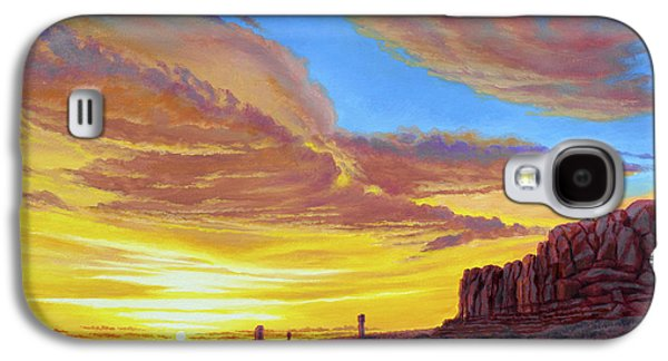 National Park Paintings Galaxy S4 Cases - Sunset at Arches Galaxy S4 Case by Paul Krapf