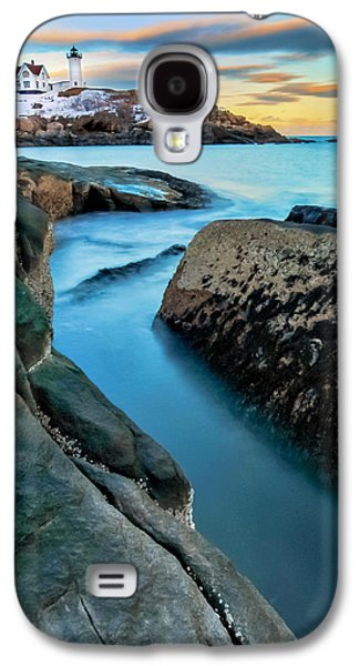 Sunset At Cape Neddick Light- Maine Galaxy S4 Case by Thomas Schoeller