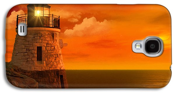 New England Ocean Galaxy S4 Cases - Sunset at Castle Hill Galaxy S4 Case by Lourry Legarde