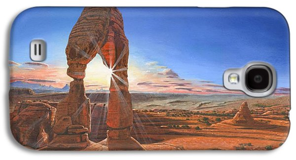 Sunset At Delicate Arch Utah Galaxy S4 Case by Richard Harpum