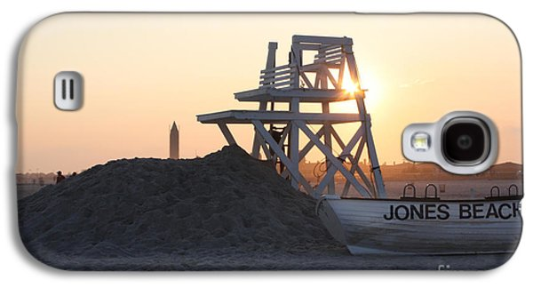 Sunset Greeting Cards Galaxy S4 Cases - Sunset at Jones Beach Galaxy S4 Case by John Telfer