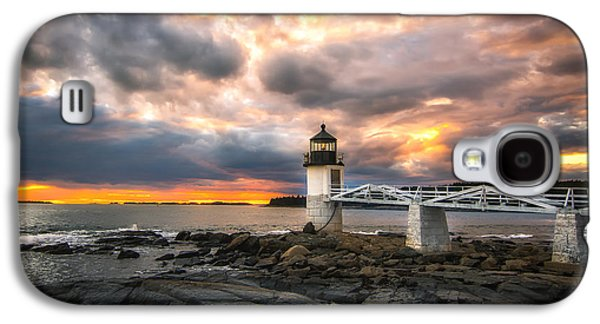 Mid-coast Maine Galaxy S4 Cases - Sunset at Marshall Point Galaxy S4 Case by Scott Thorp