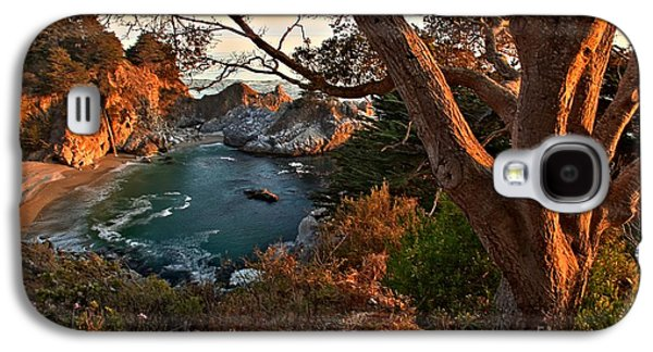 Big Sur Ca Galaxy S4 Cases - Sunset At McWay Falls Galaxy S4 Case by Adam Jewell