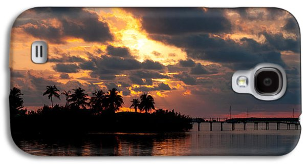 Sailboats At The Dock Galaxy S4 Cases - Sunset at Mitchells Keys Villas Galaxy S4 Case by Michelle Wiarda