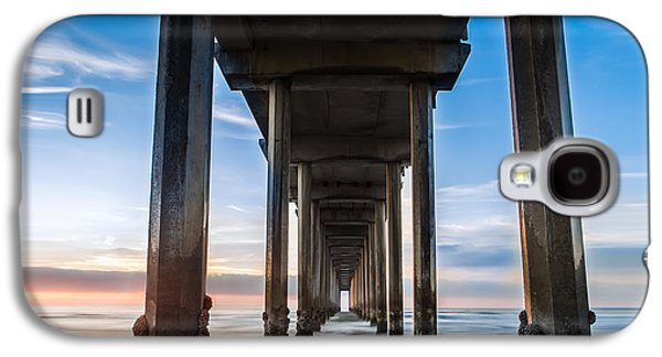 Waterscape Galaxy S4 Cases - Sunset at the Iconic Scripps Pier Galaxy S4 Case by Larry Marshall