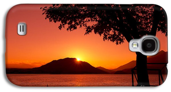 Behind The Scenes Photographs Galaxy S4 Cases - Sunset at the Lake Galaxy S4 Case by Beverly Claire Kaiya
