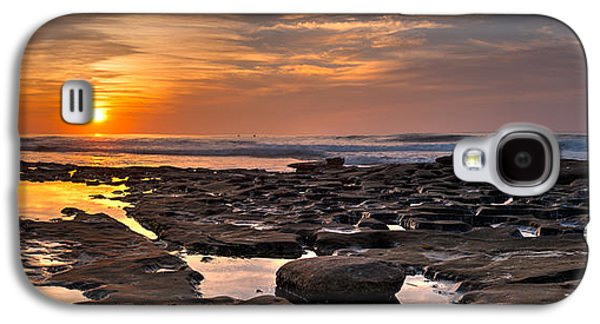 Ocean Panorama Galaxy S4 Cases - Sunset at the Tidepools II Galaxy S4 Case by Peter Tellone