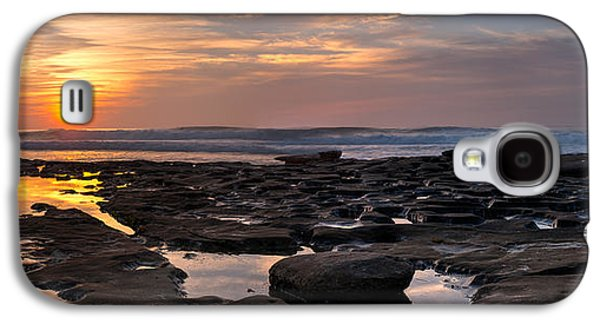 Ocean Panorama Galaxy S4 Cases - Sunset at the Tidepools III Galaxy S4 Case by Peter Tellone
