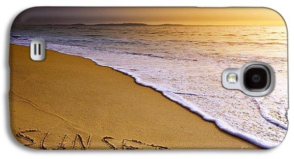 Aquatic Galaxy S4 Cases - Sunset Beach Galaxy S4 Case by Carlos Caetano
