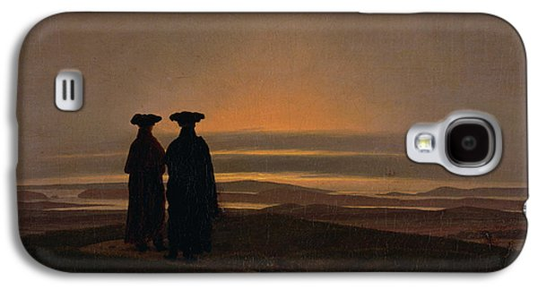 Setting Sun Galaxy S4 Cases - Sunset Brothers C.1830-35 Oil On Canvas Galaxy S4 Case by Caspar David Friedrich