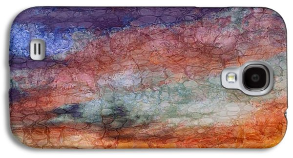 Sunset Abstract Mixed Media Galaxy S4 Cases - Sunset Colors Galaxy S4 Case by Dan Sproul