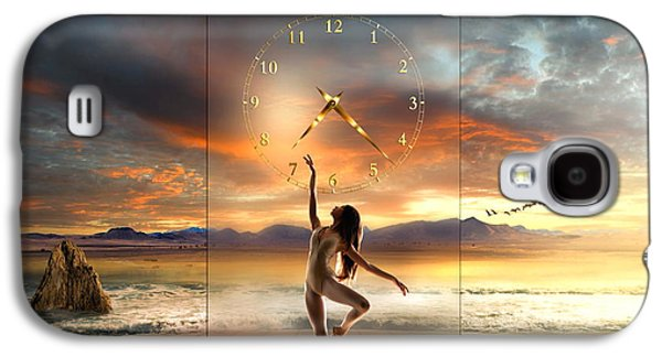 Surreal Landscape Mixed Media Galaxy S4 Cases - Sunset Dancing Galaxy S4 Case by Franziskus Pfleghart