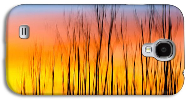 Sunset Abstract Galaxy S4 Cases - Sunset Fire Galaxy S4 Case by Jackie Novak