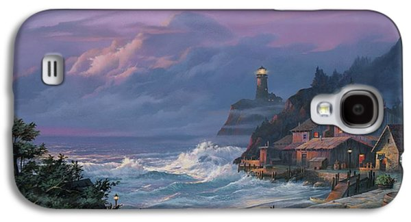 Town Paintings Galaxy S4 Cases - Sunset Fog Galaxy S4 Case by Michael Humphries