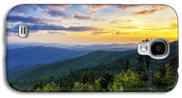 Gatlinburg Galaxy S4 Cases - Sunset from Clingmans dome Galaxy S4 Case by Anthony Heflin