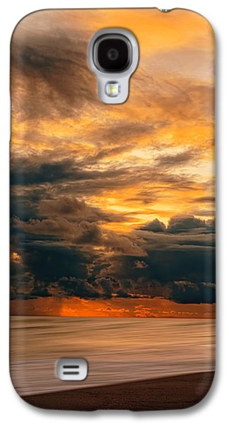 Sunset Abstract Galaxy S4 Cases - Sunset Grandeur Galaxy S4 Case by Lourry Legarde