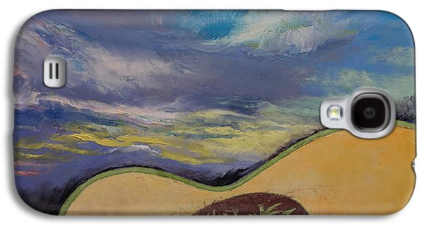70s Galaxy S4 Cases - Sunset Guitar Galaxy S4 Case by Michael Creese