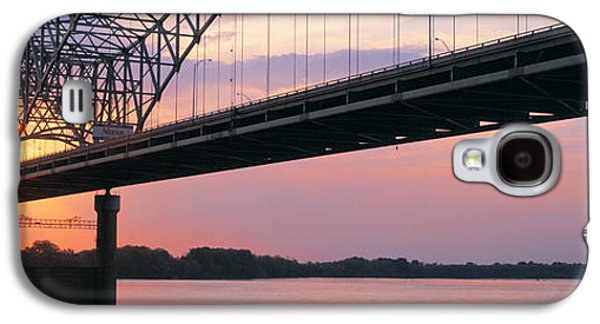 Tn Galaxy S4 Cases - Sunset, Hernandez Desoto Bridge And Galaxy S4 Case by Panoramic Images