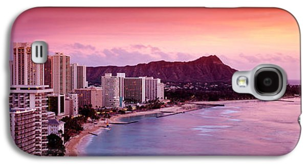 Sunset Honolulu Oahu Hi Usa Galaxy S4 Case by Panoramic Images