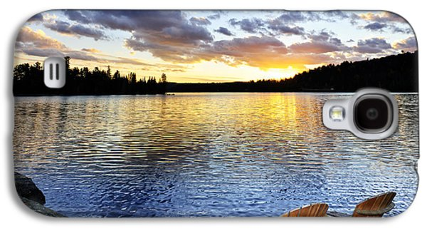 Chair Galaxy S4 Cases - Sunset in Algonquin Park Galaxy S4 Case by Elena Elisseeva
