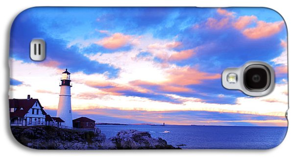 Autumn Landscape Drawings Galaxy S4 Cases - Sunset in Fork Williams Lighthouse Park Portland Maine State Galaxy S4 Case by Paul Ge