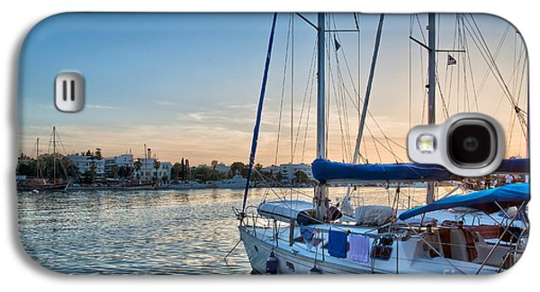 Mediterranean Landscape Galaxy S4 Cases - Sunset in Kos Galaxy S4 Case by Delphimages Photo Creations