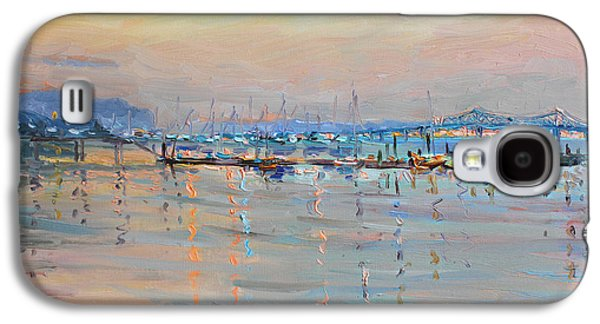 Harbor Paintings Galaxy S4 Cases - Sunset in Piermont Harbor NY Galaxy S4 Case by Ylli Haruni